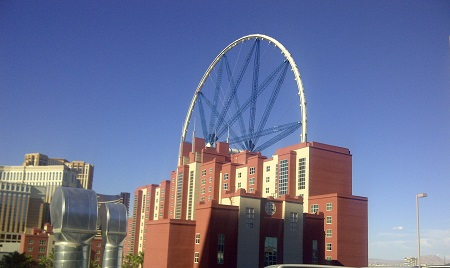Linq Wheel construction. North East view