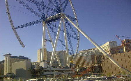 Linq Wheel construction. North West view