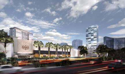 Artist rendering of the SLS Las Vegas
