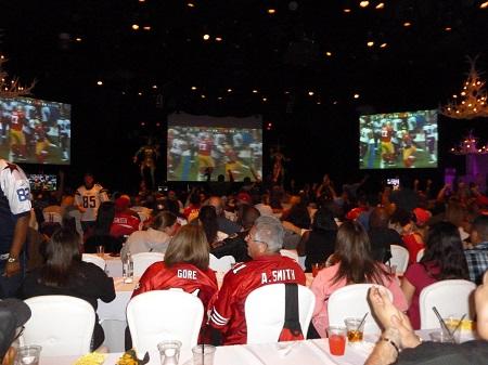 Football viewing party at Silverton Hotel Las Vegas