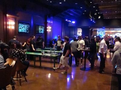Patrons playing beer pong at O'Sheas