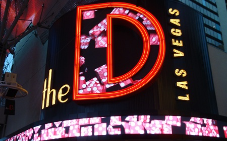 the D neon sign