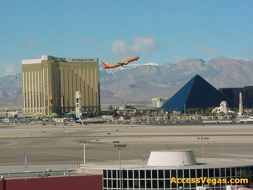 Southwest 737 departs from McCarran airport Las Vegas