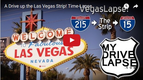 A Drive Up The Las Vegas Strip! Time-Lapse
